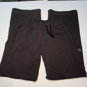 Lululemon charcoal off center drawstring sweatpant